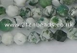 CAA1020 15.5 inches 6mm faceted nuggets tree agate beads