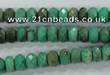 CAA103 15.5 inches 5*8mm faceted rondelle grass agate gemstone beads