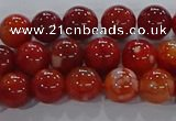 CAA1047 15.5 inches 8mm round dragon veins agate beads wholesale