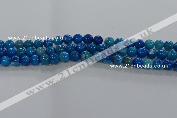CAA1058 15.5 inches 10mm round dragon veins agate beads wholesale
