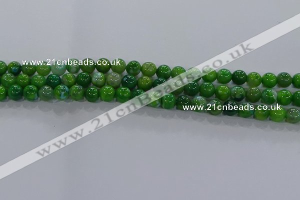 CAA1067 15.5 inches 8mm round dragon veins agate beads wholesale