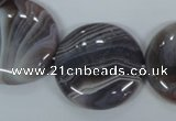 CAA107 15.5 inches 30mm coin botswana agate gemstone beads