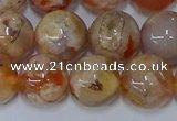 CAA1074 15.5 inches 12mm round sakura agate gemstone beads