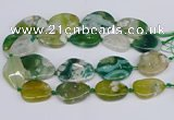 CAA1125 15.5 inches 25*35mm - 30*40mm freeform sakura agate beads