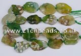 CAA1129 15.5 inches 25*35mm - 35*45mm freeform sakura agate beads