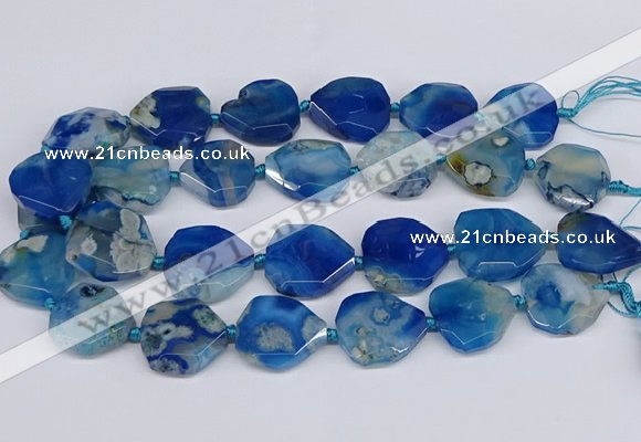 CAA1198 15.5 inches 22*25mm - 28*30mm faceted freeform sakura agate beads
