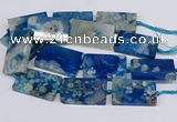 CAA1202 15.5 inches 30*50mm rectangle sakura agate beads