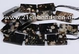 CAA1204 15.5 inches 30*50mm rectangle sakura agate beads