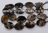 CAA1205 15.5 inches 30*40mm oval sakura agate gemstone beads
