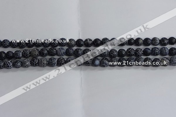 CAA1210 15.5 inches 6mm round frosted agate beads wholesale