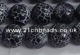 CAA1213 15.5 inches 12mm round frosted agate beads wholesale