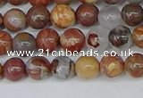 CAA1221 15.5 inches 6mm round gold munatain agate beads