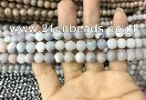 CAA1291 15.5 inches 8mm round matte plated druzy agate beads