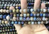 CAA1301 15.5 inches 8mm round matte plated druzy agate beads