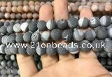 CAA1425 15.5 inches 10mm round matte druzy agate beads