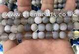 CAA1472 15.5 inches 10mm round matte banded agate beads wholesale
