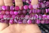 CAA1503 15.5 inches 12mm round matte banded agate beads wholesale