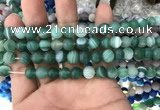 CAA1515 15.5 inches 6mm round matte banded agate beads wholesale