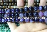 CAA1557 15.5 inches 10mm round banded agate beads wholesale