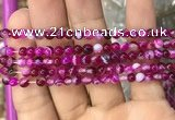 CAA1560 15.5 inches 4mm round banded agate beads wholesale