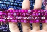 CAA1561 15.5 inches 6mm round banded agate beads wholesale