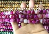 CAA1562 15.5 inches 8mm round banded agate beads wholesale