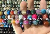 CAA1605 15.5 inches 10mm round banded agate beads wholesale