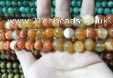 CAA1611 15.5 inches 10mm round banded agate beads wholesale