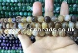 CAA1616 15.5 inches 8mm round banded agate beads wholesale
