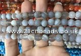 CAA1631 15.5 inches 8mm faceted round banded agate beads