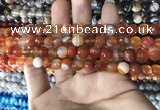 CAA1660 15.5 inches 6mm faceted round banded agate beads