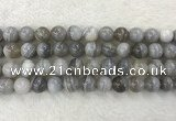 CAA1805 15.5 inches 14mm round banded agate gemstone beads