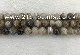 CAA1815 15.5 inches 14mm round banded agate gemstone beads