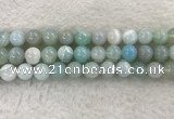 CAA1846 15.5 inches 16mm round banded agate gemstone beads