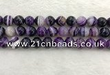 CAA1875 15.5 inches 14mm round banded agate gemstone beads