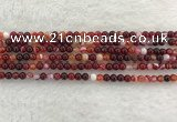 CAA1920 15.5 inches 4mm round banded agate gemstone beads