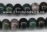 CAA195 15.5 inches 10*14mm rondelle indian agate beads wholesale