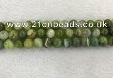 CAA1974 15.5 inches 12mm round banded agate gemstone beads