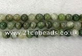 CAA1985 15.5 inches 14mm round banded agate gemstone beads