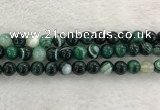 CAA2014 15.5 inches 12mm round banded agate gemstone beads