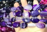 CAA2172 15.5 inches 15*20mm oval banded agate beads wholesale
