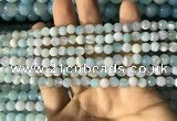 CAA2239 15.5 inches 4mm faceted round banded agate beads