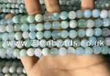 CAA2241 15.5 inches 8mm faceted round banded agate beads