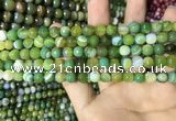 CAA2271 15.5 inches 6mm faceted round banded agate beads