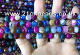CAA2294 15.5 inches 8mm faceted round banded agate beads