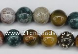 CAA233 15.5 inches 14mm round ocean agate gemstone beads wholesale