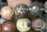 CAA2387 15.5 inches 10mm faceted round ocean agate beads wholesale