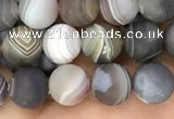 CAA2391 15.5 inches 4mm round matte Botswana agate beads wholesale