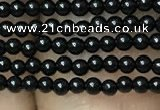 CAA2400 15.5 inches 2mm round black agate beads wholesale