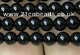 CAA2402 15.5 inches 4mm round black agate beads wholesale